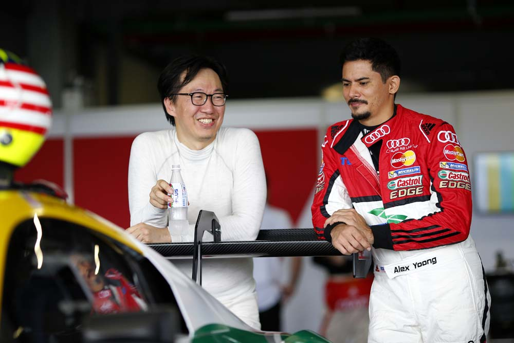 Rick Yoon Sanghwi (ITA) Phoenix Racing Asia and Alex Yoong (MAL) Audi TEDA Racing Team at Audi R8 LMS Cup, Rd3 and Rd4, Buriram International, Circuit, Buriram, Thailand, 22-24 July 2016.