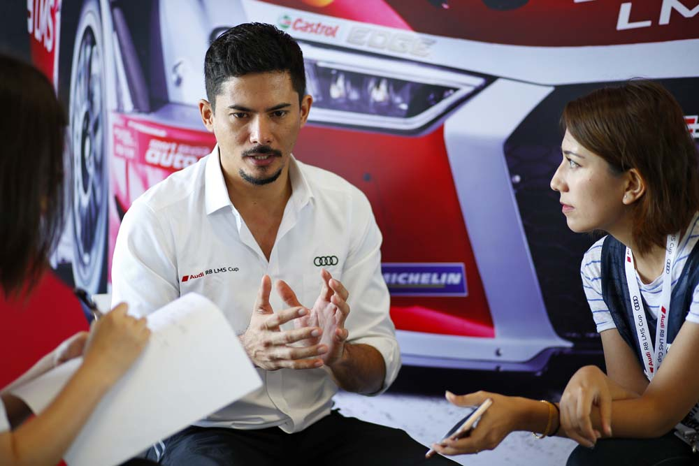 Alex Yoong (MAL) Audi TEDA Racing Team during interview at Audi R8 LMS Cup, Rd3 and Rd4, Buriram International, Circuit, Buriram, Thailand, 22-24 July 2016.