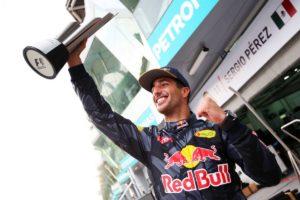 Race winner Daniel Ricciardo.
