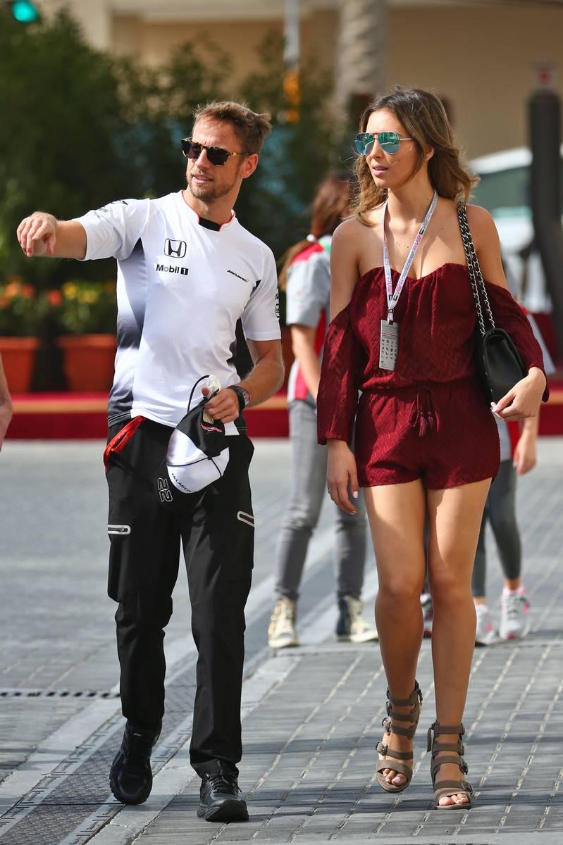 Jenson Button (GBR) McLaren with his girlfriend Brittny Ward (USA).
