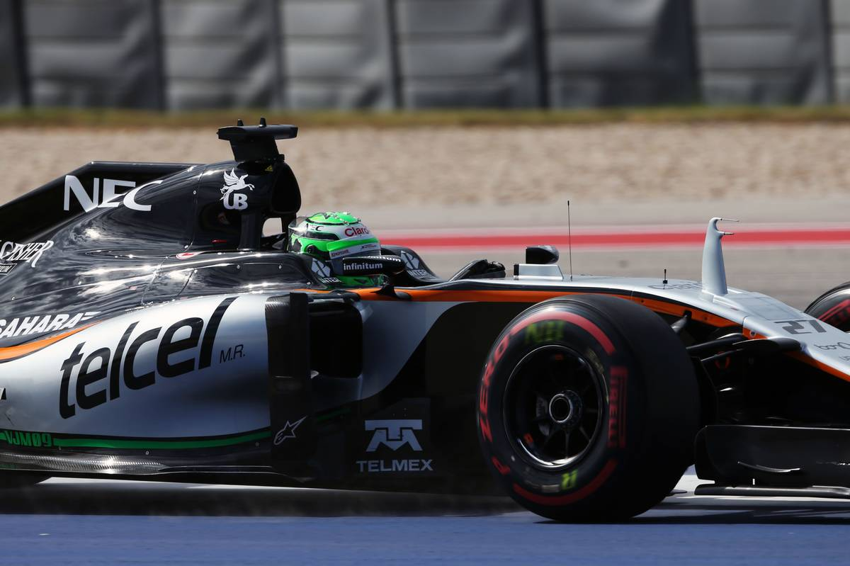 Nico Hulkenberg (GER) Sahara Force India F1 VJM09 at the start of the race.