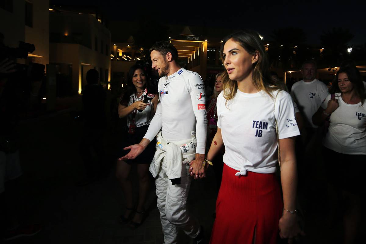 Jenson Button (GBR) McLaren retired from the race, with his girlfriend Brittny Ward (USA).